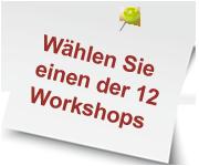Wählen Sie eines der 10 Workshopthemen